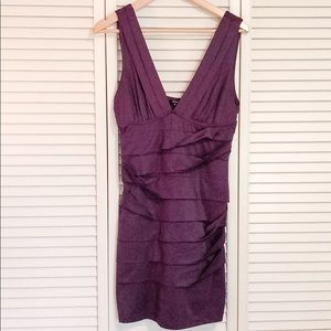 Tiered layer Dress in Plum